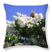 Nature In The Wild - Bathing In Blooms Throw Pillow