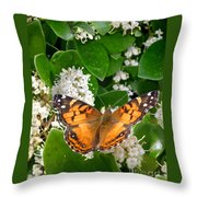 Nature In The Wild - On Golden Wings Throw Pillow