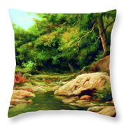 Nature Is Beautiful Impressionism Throw Pillow