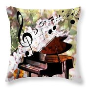 Nature Is Music To My Soul Throw Pillow