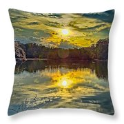 Nature Landscapes Around Lake Wylie South Carolina Throw Pillow