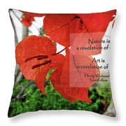 Nature Longfellow Quote Throw Pillow