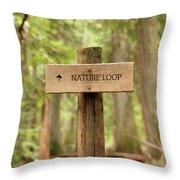 Nature Loop Sign Throw Pillow