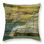 Nature Made- Indian Head Pictured Rocks Throw Pillow
