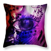 Nature N Music Abstract Throw Pillow