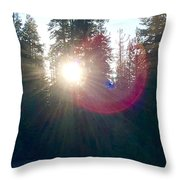 Nature Orbs Speak Throw Pillow