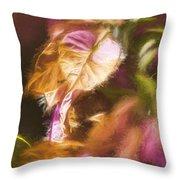 Nature Pastel Artwork Throw Pillow