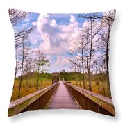 Nature Path Throw Pillow