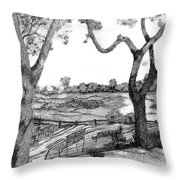 Nature Sketch Throw Pillow