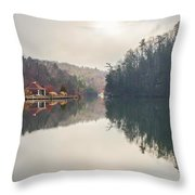Nature Views Near Chimney Rock And Lake Lure Throw Pillow