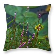 Nature Water Garden Throw Pillow