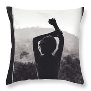 Nature Window. Throw Pillow