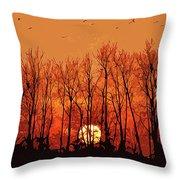 Nature's Altar Throw Pillow