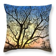 Natures Backlight Throw Pillow