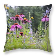 Natures Bouquet Throw Pillow