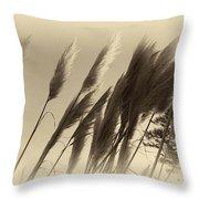 Natures Brushes Throw Pillow