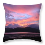 Nature's Cairns Sunrise Throw Pillow