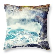 Natures Cauldron Throw Pillow