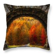Natures Color Schemes Throw Pillow
