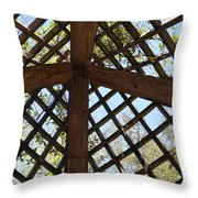 Nature's Cross Throw Pillow