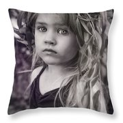 Natures Daughter Throw Pillow