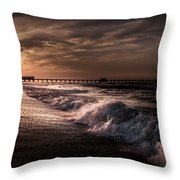 Natures Drama  Throw Pillow by Kim Loftis