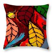Natures Explosion Throw Pillow