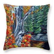 Natures Faces Throw Pillow