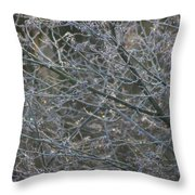 Natures Fairy Lights Throw Pillow