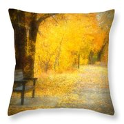 Nature's Golden Corridor Throw Pillow