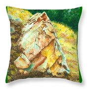 Nature's Granite Sculpture Throw Pillow