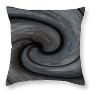 Nature's Illusions- Yin And Yang Throw Pillow