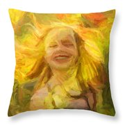 Nature's Joy Throw Pillow
