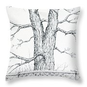 Nature's Lines Throw Pillow