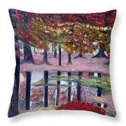 Natures Painting Throw Pillow