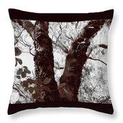 Nature's Peace Sign Throw Pillow