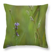 Natures Poetry... Throw Pillow by Nina Stavlund