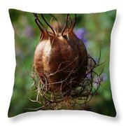 Nature's Seed Vase Throw Pillow