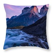 Nature's Sunrise Canvas Throw Pillow