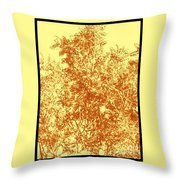 Natures Trees In Brown And Yellow Throw Pillow