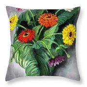 Nature's Vase Throw Pillow