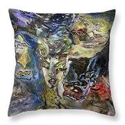 Naturgeister Nature Spirits Throw Pillow