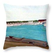 Naufrage Harbour Pei Throw Pillow