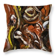 Naughty Boy Throw Pillow