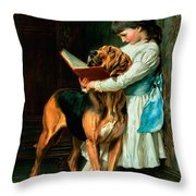 Naughty Boy Or Compulsory Education Throw Pillow