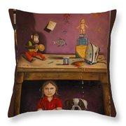 Naughty Child Throw Pillow