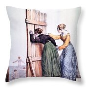 Naughty Ladies 19th Century Throw Pillow