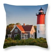 Nauset Beach Light Throw Pillow