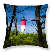 Nauset Lighthouse Throw Pillow