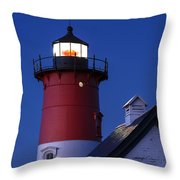 Nauset Lighthouse Night Throw Pillow